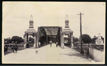 Nawarat Bridge in 1920 Chiangmai